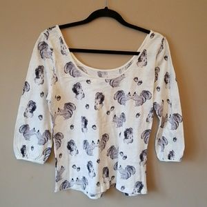 Anthropology size M  Squirrel top